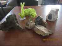 Assorted Fish Tank Decorations