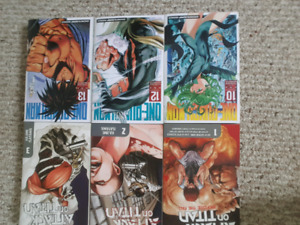 One punch man / attack on titan mangas