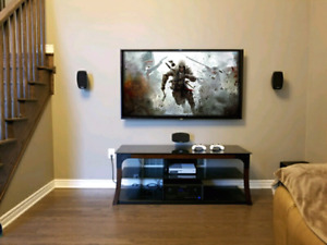 Wall mounting tv from 40$ , installation de tele au mur
