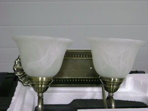 Two bulb wall sconce