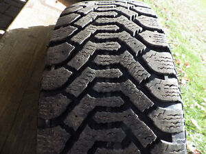 (4) GOODYEAR NORDIC WINTER TIRES AND RIMS