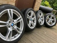 "Genuine BMW 3 series 18"" 400 M SPORT Alloy Wheels & Tyres F30 F31 E90 E91 E46"