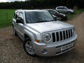 2008 JEEP PATRIOT LIMITED CRD * LEATHER AND SUNROOF * 4X4 DIESEL