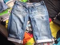 "2 X Men's Jeans Shorts 30"" waist"