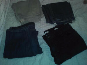 4 Pairs of Barely Used Jeans 38 x 32 Blue Beige Calvin Klein