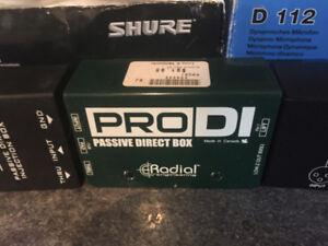 Pro DI Passive Direct Injection Box; Recording Equip