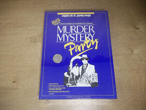 Murder mystery party -deluxe edition for 6 - 18 years + new