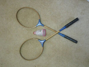 2 Badminton racquets with Birdies. Price reduced!