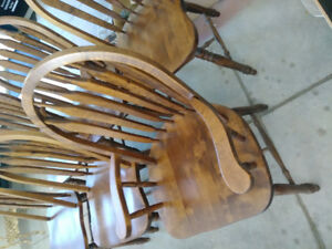 6 Solid Cherry Dining Chairs.  Canadian made.