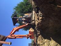 mini excavator & operator for hire