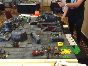 Warhammer 40K tournament scenery and table: Factory