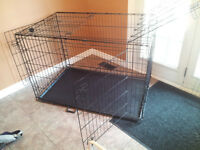"Extra large dog crate w/ divider - 48""x30""x32"""