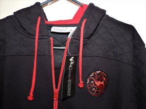 FIRE AND BLOOD - GAME OF THRONES - HOODIE (NEW WITH TAGS)