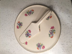 Antique Royal Tudor Ware China Plate and spatula/server