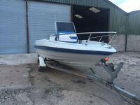 Bayliner central console power boat and trailer engine 115hp