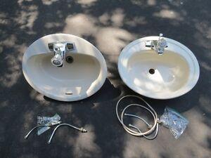 Bathroom sink with Moen faucet (2)