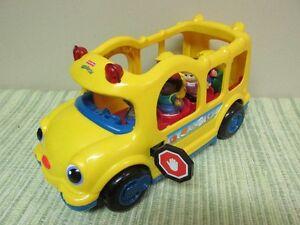 Autobus Sonore Lumineuse Little People et 5 Figurines D'origines