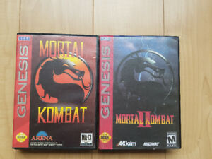 Mortal kombat 1 and 2 sega genesis