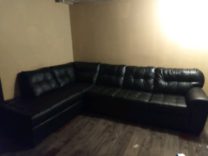 2 Piece Sectional Real Leather couch
