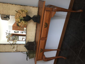 Solid Oak Console/Sofa Table