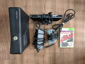XBOX 360S w BRAND NEW CONTROLLER, NEED FOR SPEED: MW, and KINECT