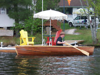 Cedar RowBoat for sale or will trade for 20-30 hp outboard motor