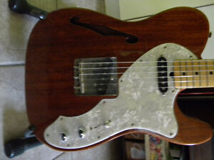 FENDER TELECASTER thinline 69 reissue  japan mahagony hard cas