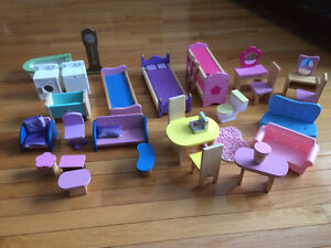Wooden Doll House with Wooden Furniture. Like new. St. John's Newfoundland image 3