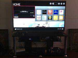 Like new 49 lg tv and tv stand