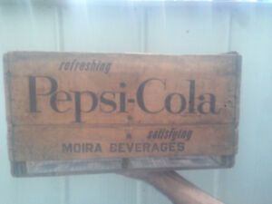 pepsi cola crates sign