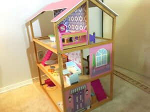 Large doll house -- great fun for rec room or kids' bedroom!