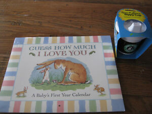 NEW Guess How much I love you baby calendar and sippy cup