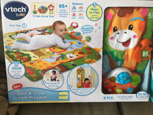 Toys, play mat, first year frame