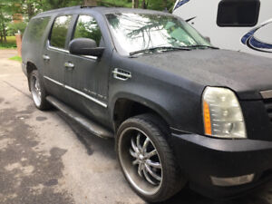 Mags with tires p295/35R24 for Cadillac Escalade
