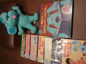 Blues Clues books and toy