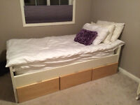 White Storage Bed with 3 drawers
