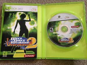 Dance revolution game with dance pad
