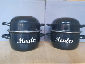 Moules Cooking Pots Mussels