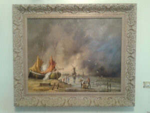 Dutch Old Master Painting By Gudrun Sibbons