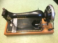Vintage Hand Crank Singer Sewing Machine