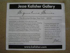 Brooklyn Bridge #2838 - B/W Photo print signed Jesse Kalisher Regina Regina Area image 4