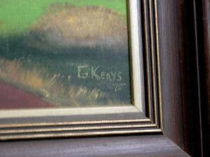 Rural Landscape Folkart Oil Painting on Canvas (Signed) Kitchener / Waterloo Kitchener Area image 2