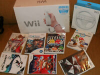********* WII CONSOLE LOT WITH GAMES  COMPLETE IN BOX **********
