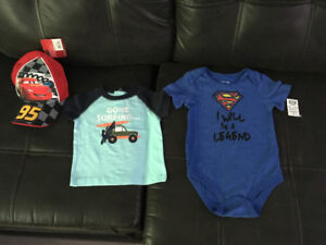 Selling a set of NEW CLOTHES for 12 months old baby boy.