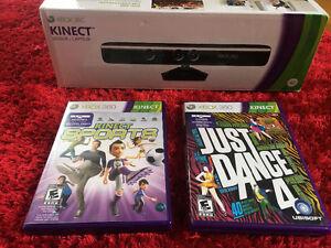 Kinect + 2 jeux