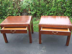 WOODEN END TABLES $20 EACH