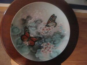 Monarch Butterflies Collector plate