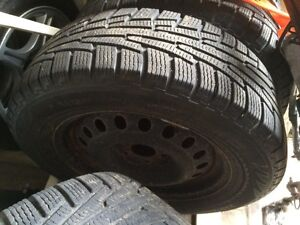 Camero winter tires and steel wheels 225/65/17