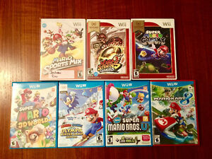 Wii u and wii Mario games