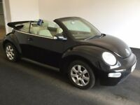 2004 04 Reg Volkswagen Beetle 1.9 TDI, Convertible, Diesel, Manual, Met Black, Long MOT August 2018